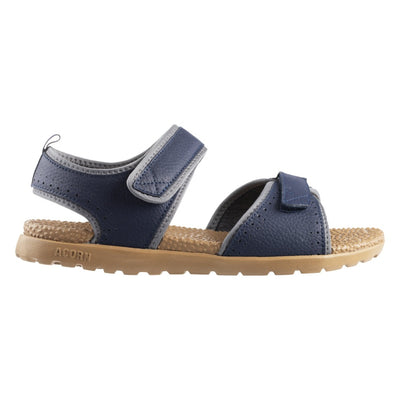 Acorn Men's Grafton Sandal with Adjustable Straps in Navy Profile View