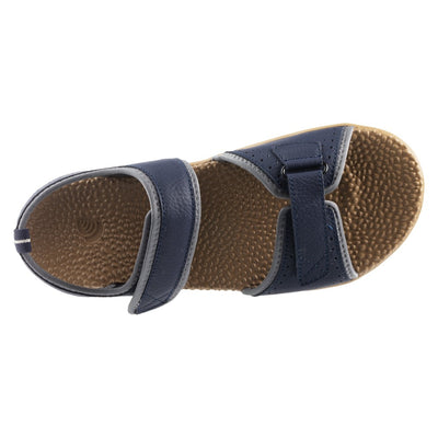Acorn Men's Grafton Sandal with Adjustable Straps in Navy Top Down View