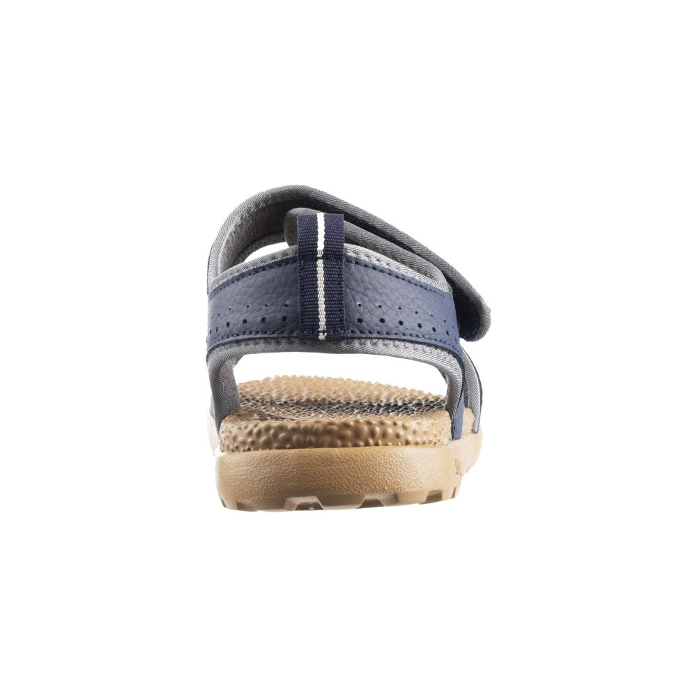 Acorn Men's Grafton Sandal with Adjustable Straps in Navy Back Heel View