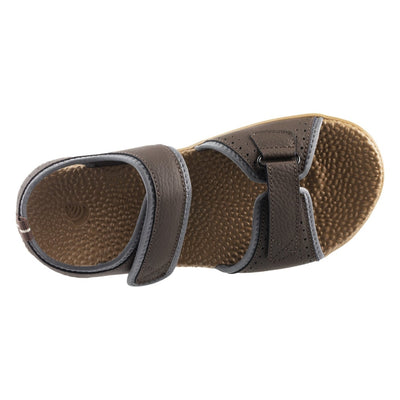 Acorn Men's Grafton Sandal with Adjustable Straps in Walnut Top Down View