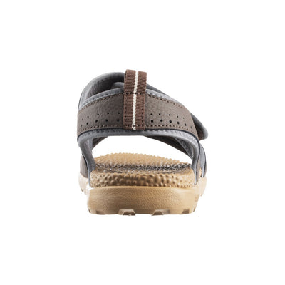 Acorn Men's Grafton Sandal with Adjustable Straps in Walnut Back Heel View
