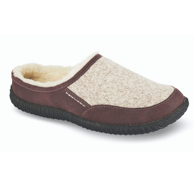 Acorn Men's Rambler Slide Slipper Heather Grey Profile View