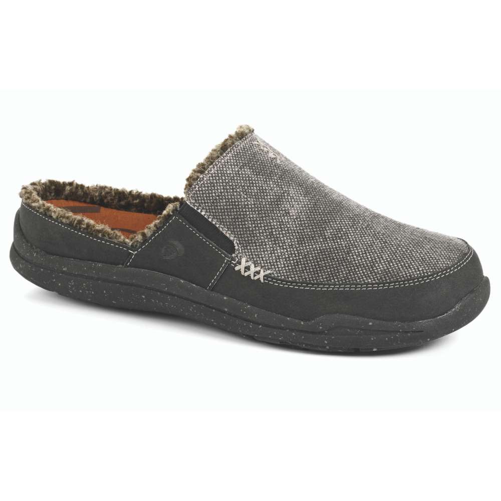 Stone Wash Black Acorn Slipper side view