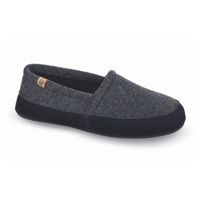 Men's Original Acorn Moccasins in Dark Charcoal Right Angled View
