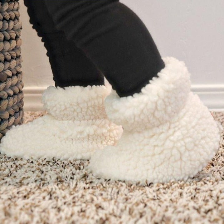 Toddler's Fuzzy Booties