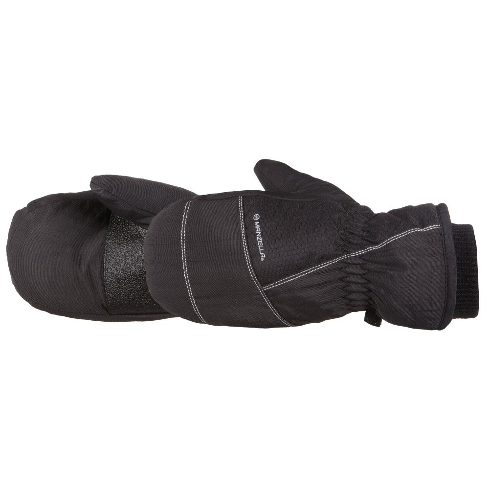 Kids Frost Mittens Outdoor Mittens in Black Pair Side Profile