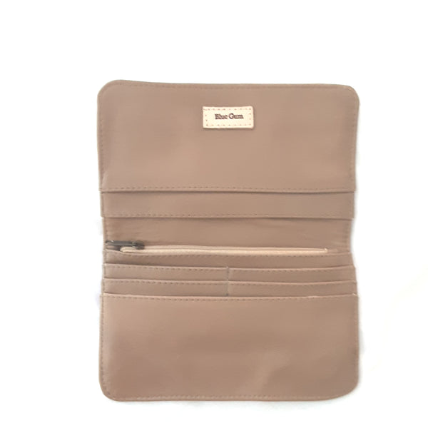 Bayleigh Leather Clutch - Fawn