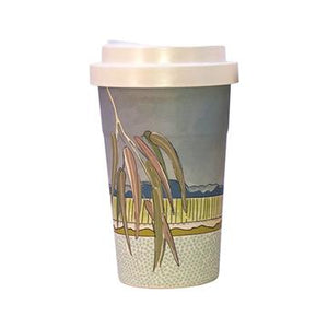 Falling Leaves Bamboo Travel Mug