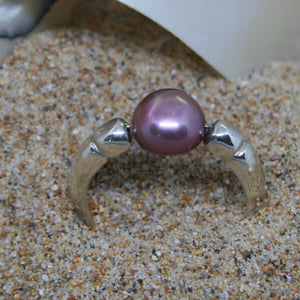 Pink Pearl Sterling Silver Ring