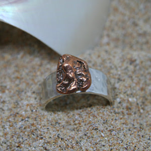 Michigan Copper Sterling Silver Ring
