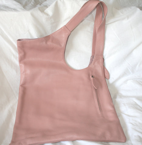 Dee Pink Leather Shoulder Bag