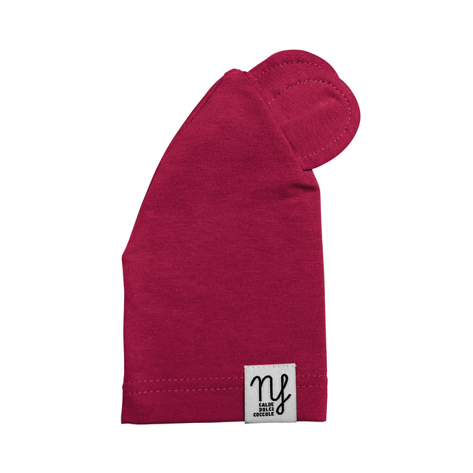 Burgundy Teddy Hat