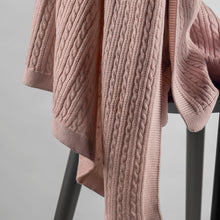 Load image into Gallery viewer, Nannafrufrù Antique Pink Merino Wool Blanket