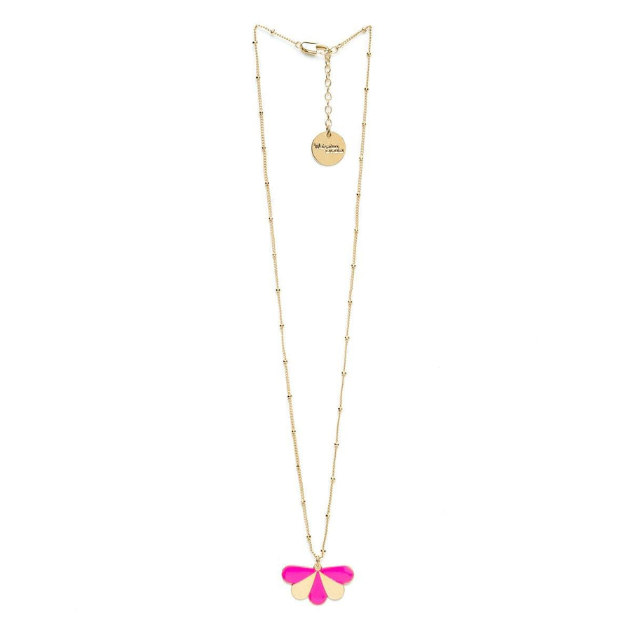 Collier Milo Or Rose Paon Rayures Colliers Monsieur Simone