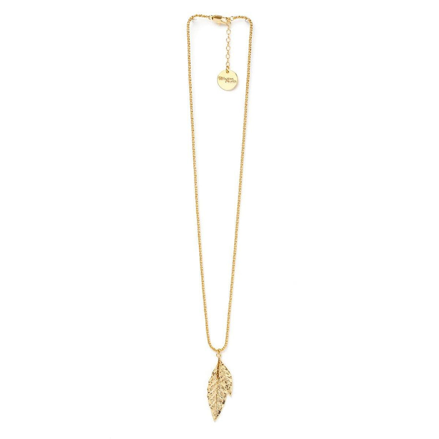 Collier Thalie Or Feuilles Colliers Monsieur Simone