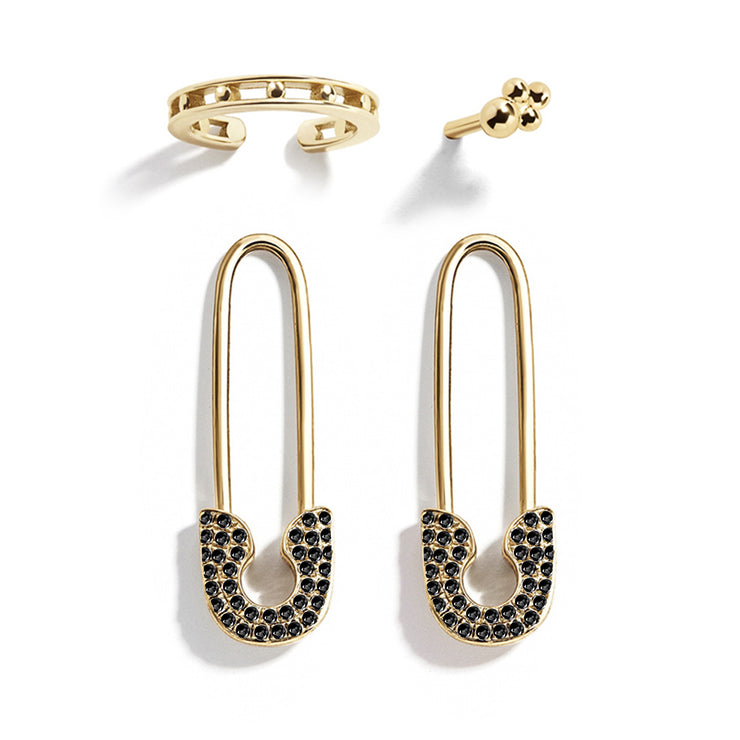 ANARCHY | Crystal Safety Pin Earrings