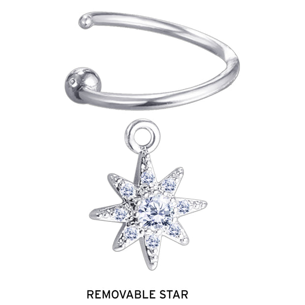 star helix hoop star bendable piercing