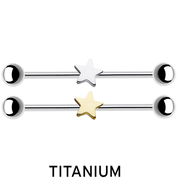 star scaffold bar titanium industrial barbell