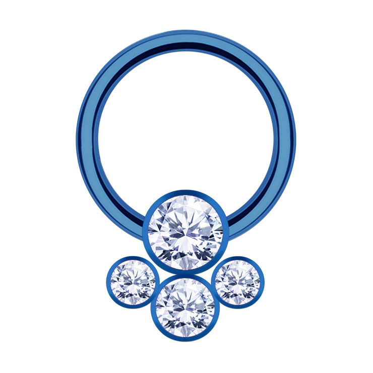 blue septum ring jewelled septum piercing crystal septum jewellery blue cartilage rings crystal cartilage hoop crystal genital jewellery