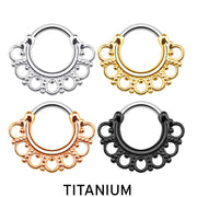 gold septum ring titanium septum rings titanium cartilage clickers black septum clicker rose gold cartilage hoop gold helix piercing silver titanium earrings