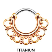 titanium septum ring rose gold septum piercing