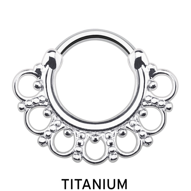 silver septum clicker silver cartilage ring silver cartilage piercing