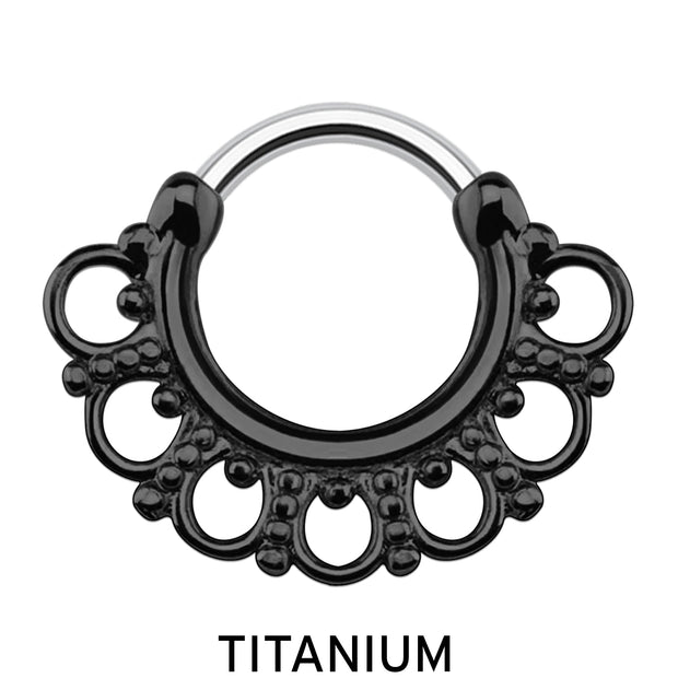 black septum clicker black septum ring titanium cartilage rings