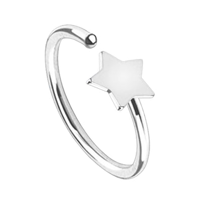 silver star cartilage piercing star helix rings silver daith piercings