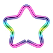 rainbow cartilage jewellery star cartilage piercings rainbow rook piercing