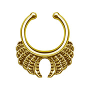 fake septum ring gold false helix hoop