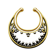 gold faux septum ring false nose piercing