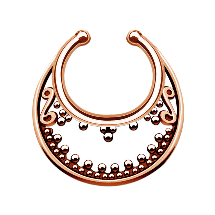 fake nosering false septum jewelry