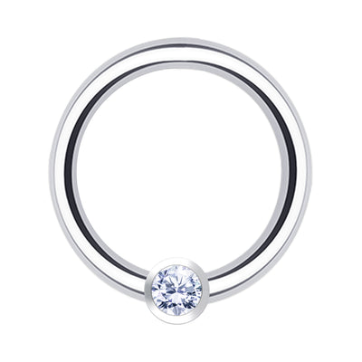 silver septum piercing crystal helix ring silver jewelled rook hoop