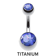 blue belly bars blue navel piercing