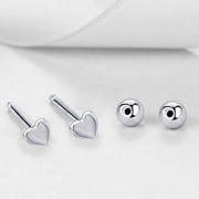BINKY | 925 Sterling Heart Cartilage Earrings