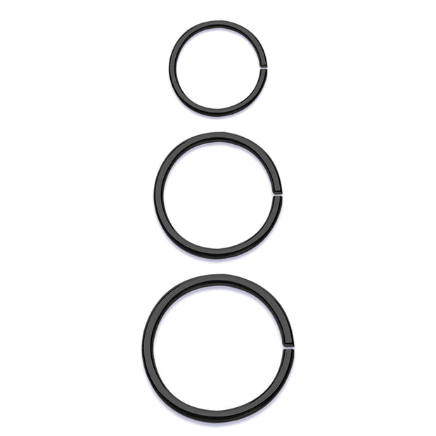 black bendable ring simple bendable hoop