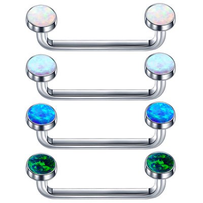 titanium surface bar opal staple piercing