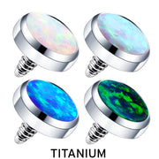 opal dermal top white dermal toppers opal piercing tops
