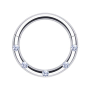 Jewelled Septum Ring Crystal cartilage piercing silver helix hoops