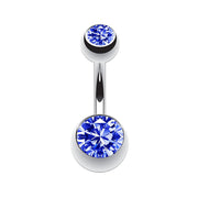 blue belly button piercings simple belly bar silver navel rings