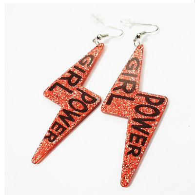 glitter earrings lightening earring red ear piercing