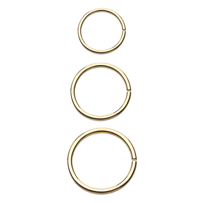 gold bendable rings simple cartilage hoop