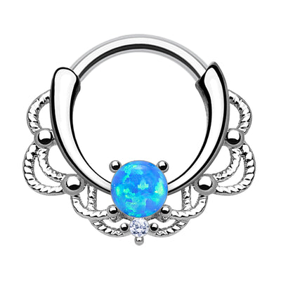 opal crystal cartilage piercings crystal septum clicker opal helix jewellery