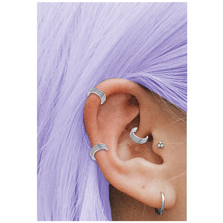 triple helix ring triple cartilage jewellery silver daith piercing
