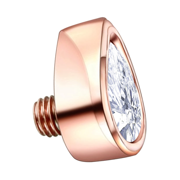 rose gold dermal topper crystal dermal tops jewelled dermal piercing rose gold surface piercings rose gold dermal jewellery