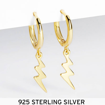 STORM | 925 Sterling Silver Lightning Earrings