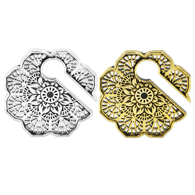 Lotus | Flower Brass Ear Weights