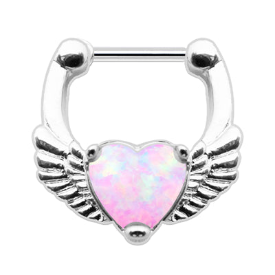 pink cartilage ring opal septum piercing opal helix rings