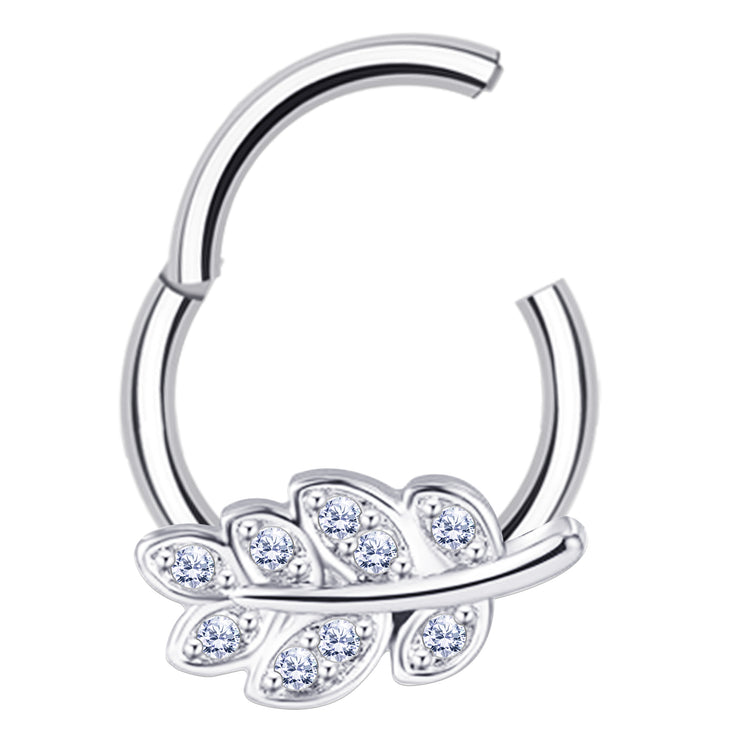 cute cartialge hoop silver septum piercing pretty smiley jewellery