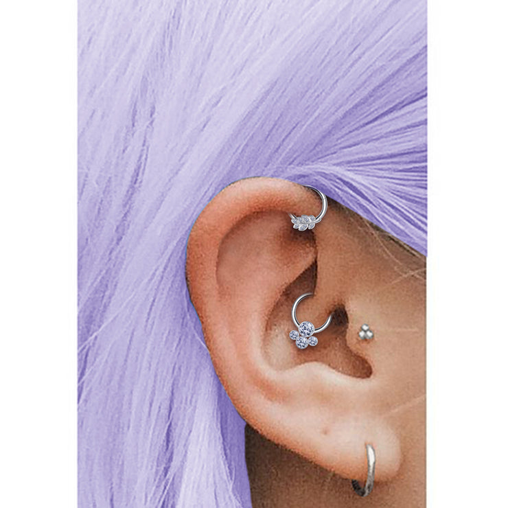 crystal helix ring jewelled cartilage piercing